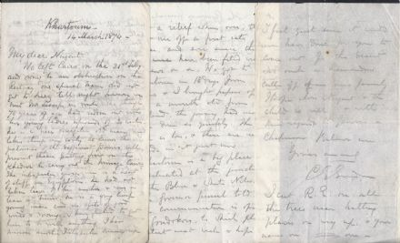 Gordon of Khartoum Important Signed Letter 1874 - Cairo to Sudan Travel Letter